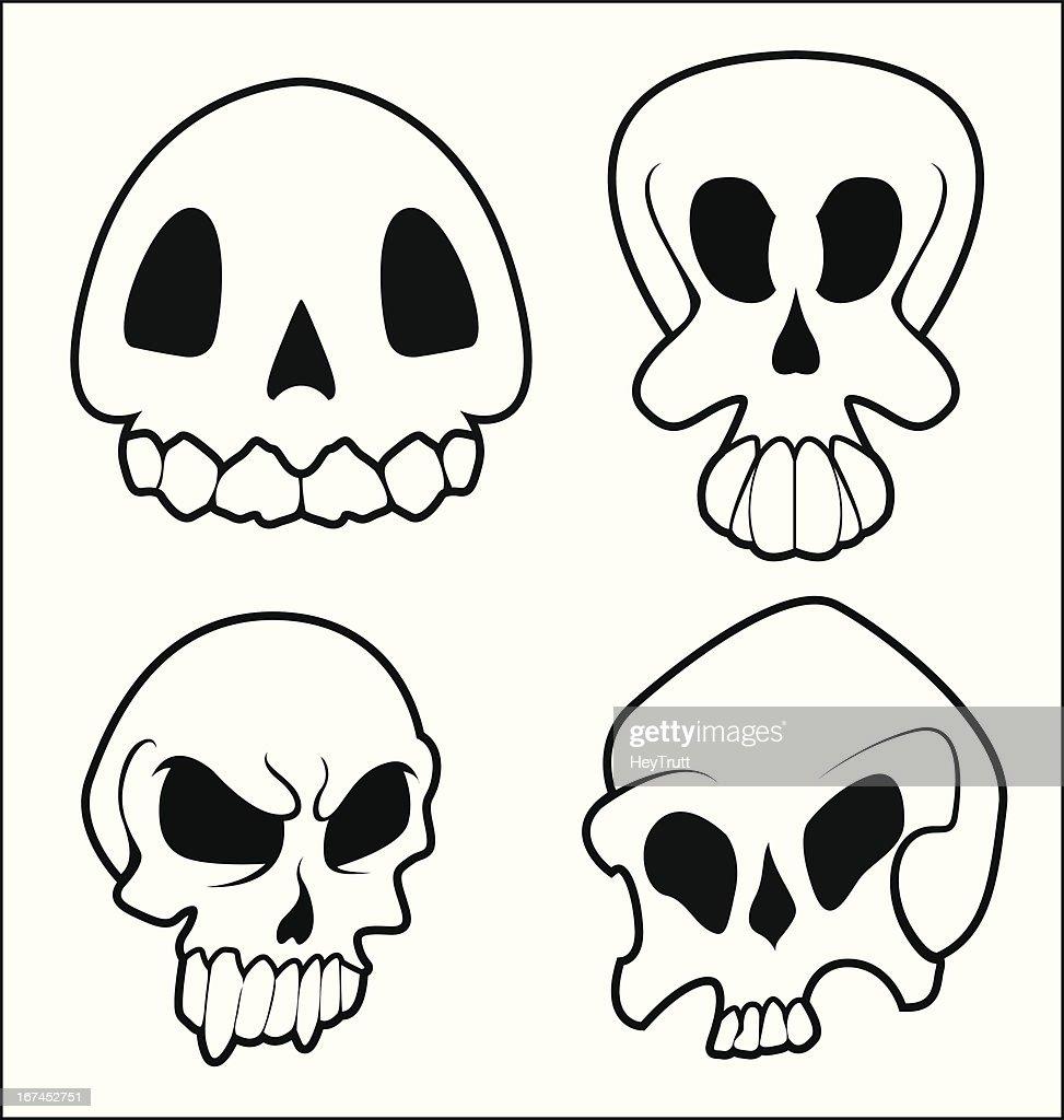 Skulls 7 Pack : Vector Art