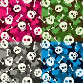 Skulls Camo Seamless Pattern