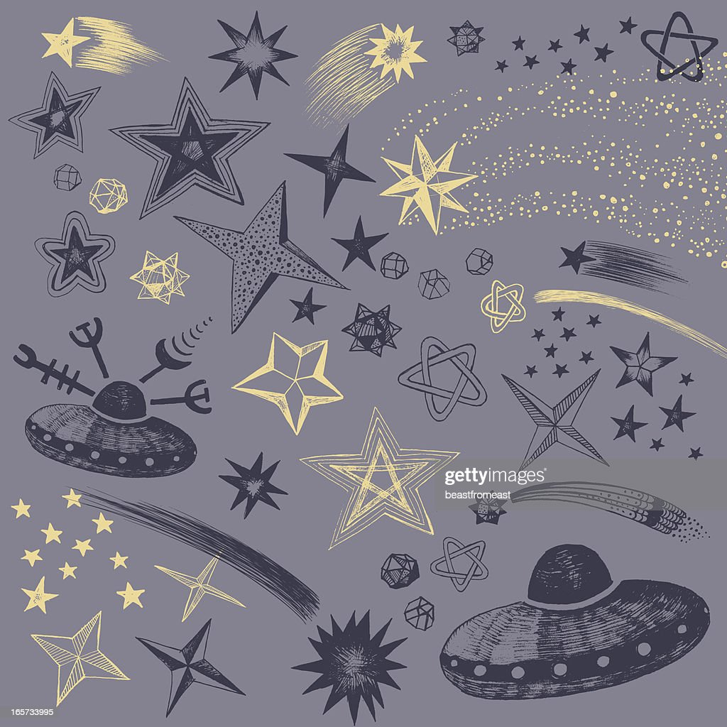 Sky at night : stock illustration