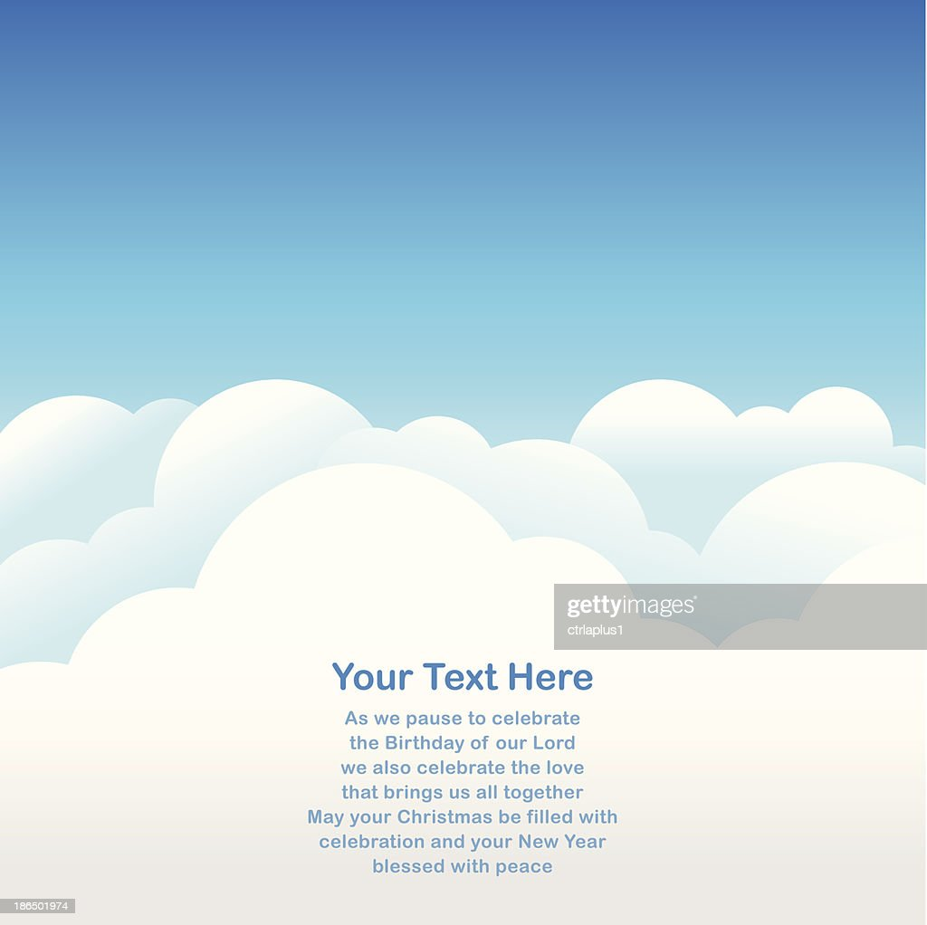 Sky Background for greeting card