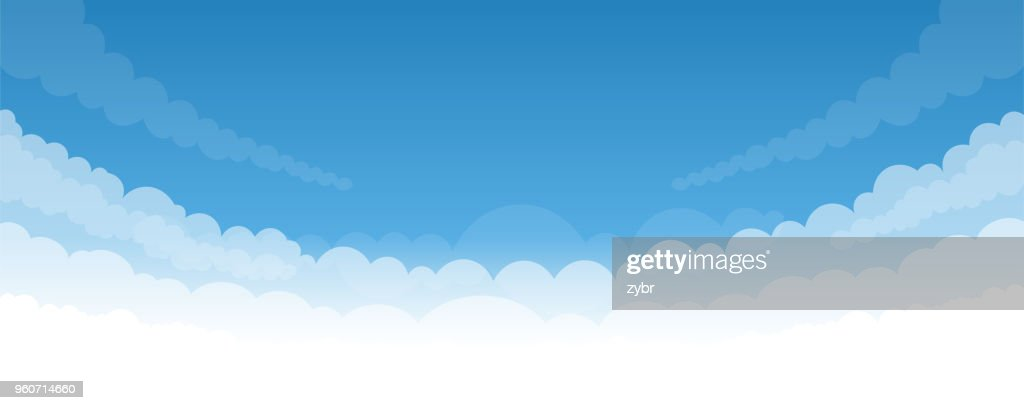 Sky background with white bottom