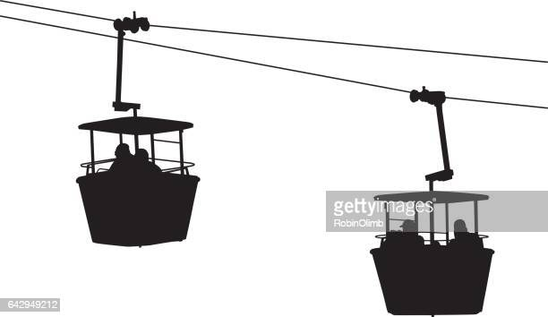 sky ride silhouette - carnival ride stock illustrations, clip art, cartoons, & icons