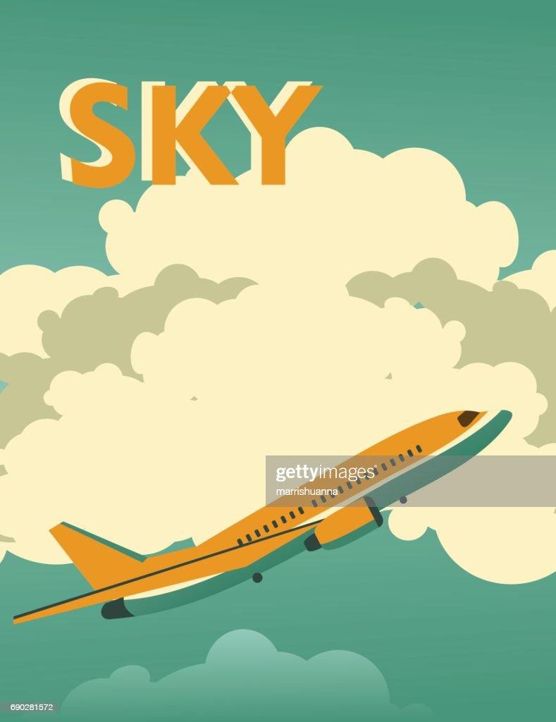 Sky vintage poster