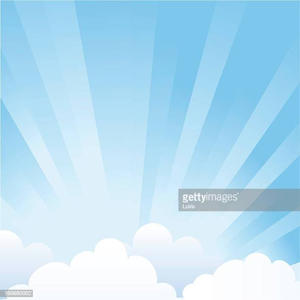 sky with clouds - overcast stock illustrations, clip art, cartoons, & icons