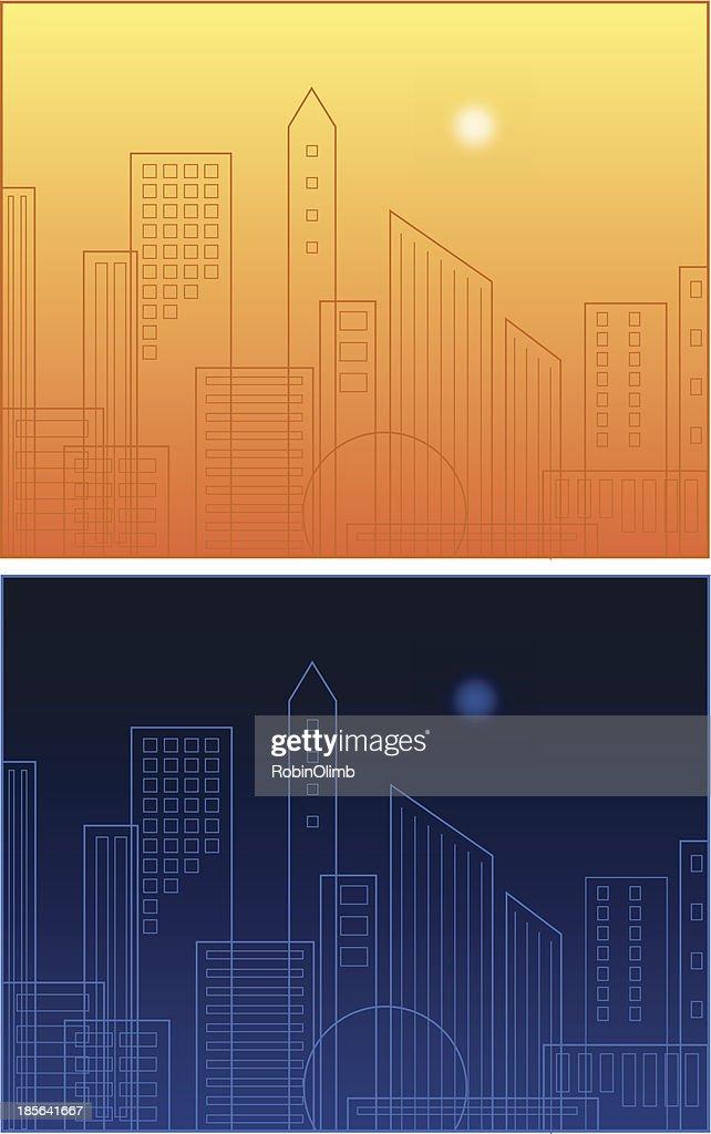 Skyline Day And Night