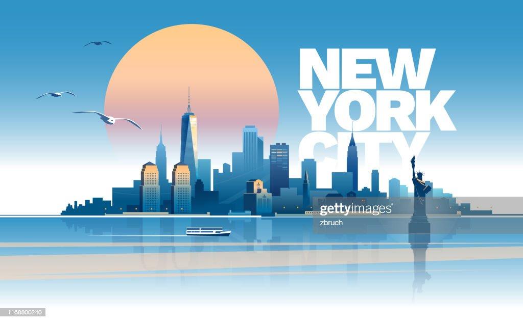 Skyline of New York city : Stock Illustration