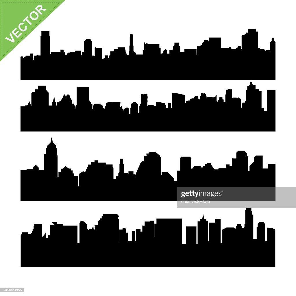 Skyline silhouettes vector