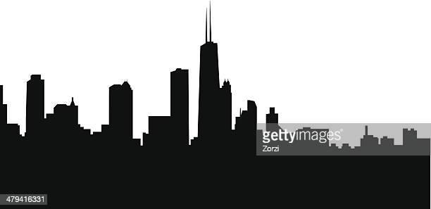 skyline - chicago stock illustrations, clip art, cartoons, & icons