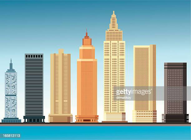 skyscraper - skyscraper stock illustrations