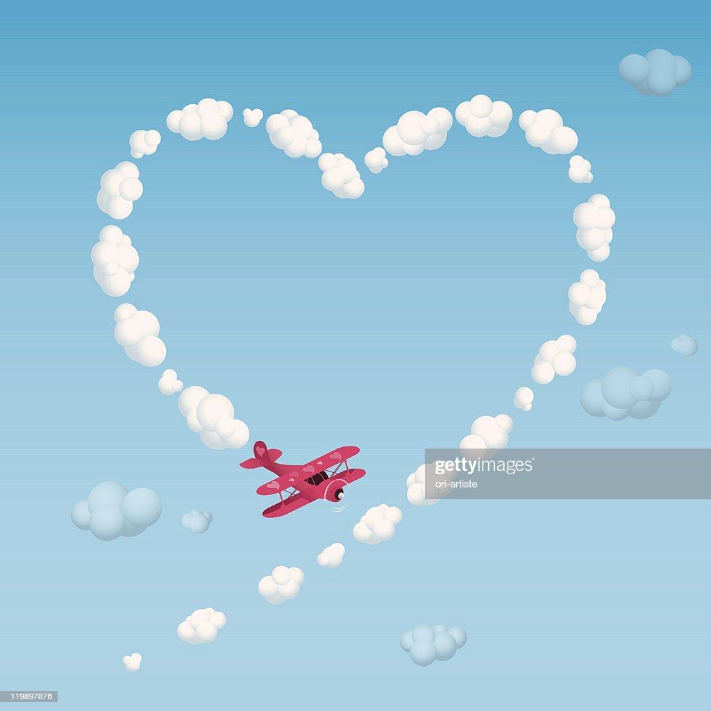 Skywriting a heart