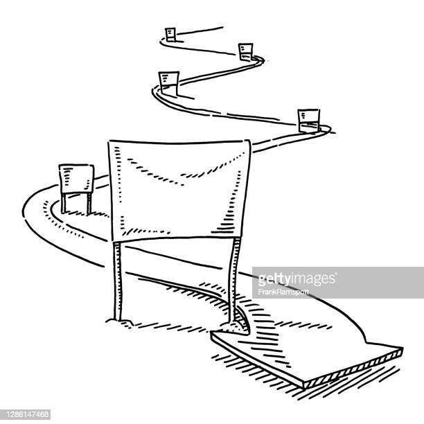 slalom skiing symbol drawing - winter sports event stock illustrations