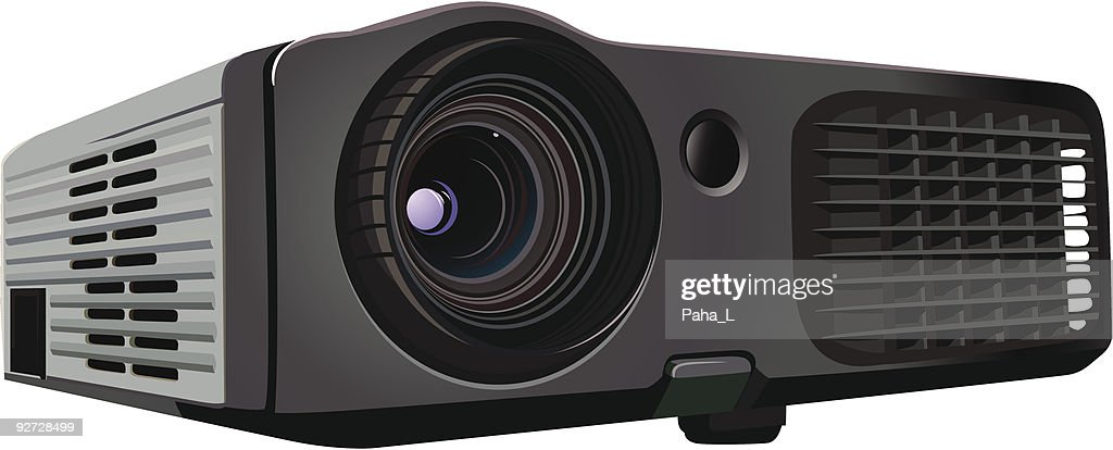 A sleek black and grey newly designed office projector