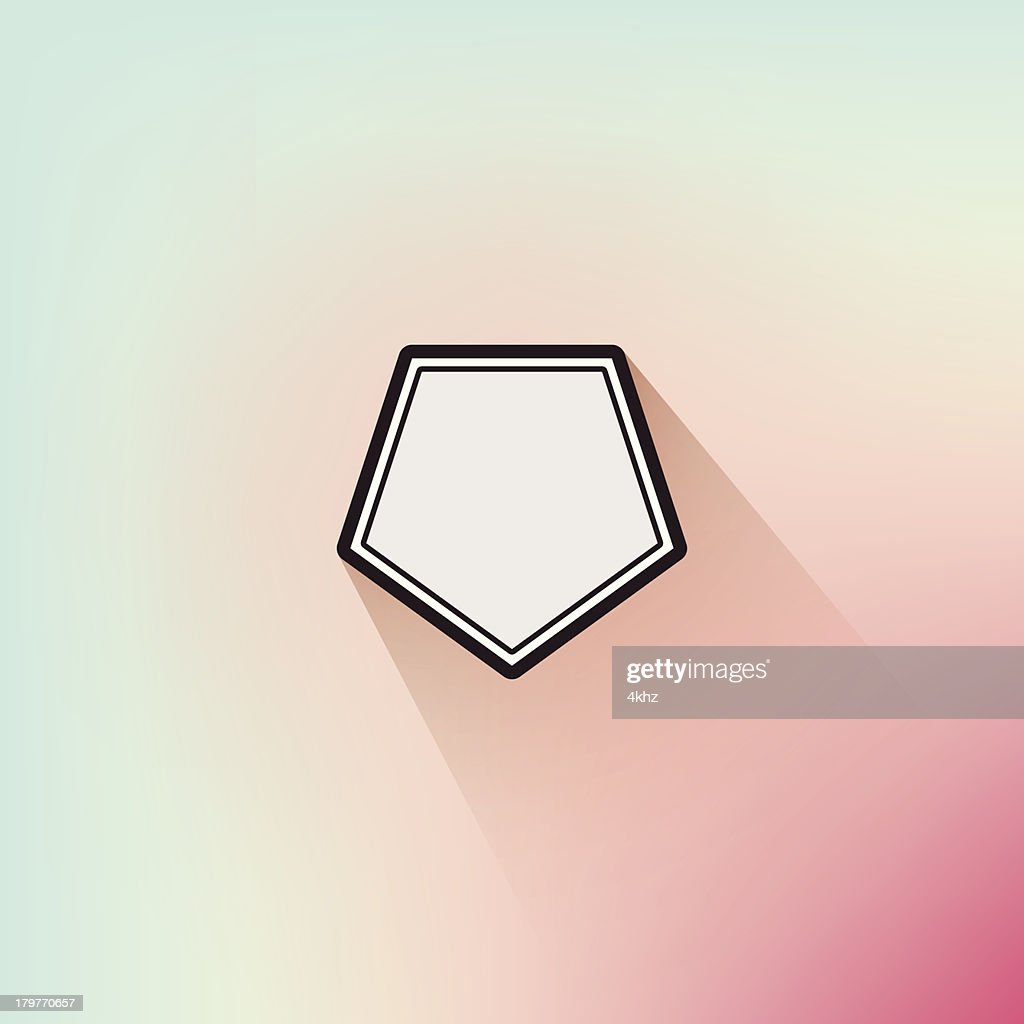 Sleek Geometric Flat Design Frame Long Shadow Soft Defocus Background