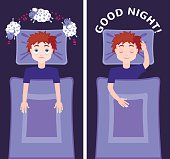 Sleep and insomnia concept.