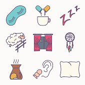 Sleep and insomnia icon