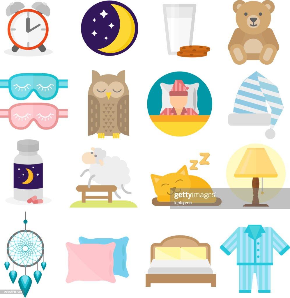 Sleep icons vector illustration