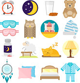 Sleep icons vector illustration