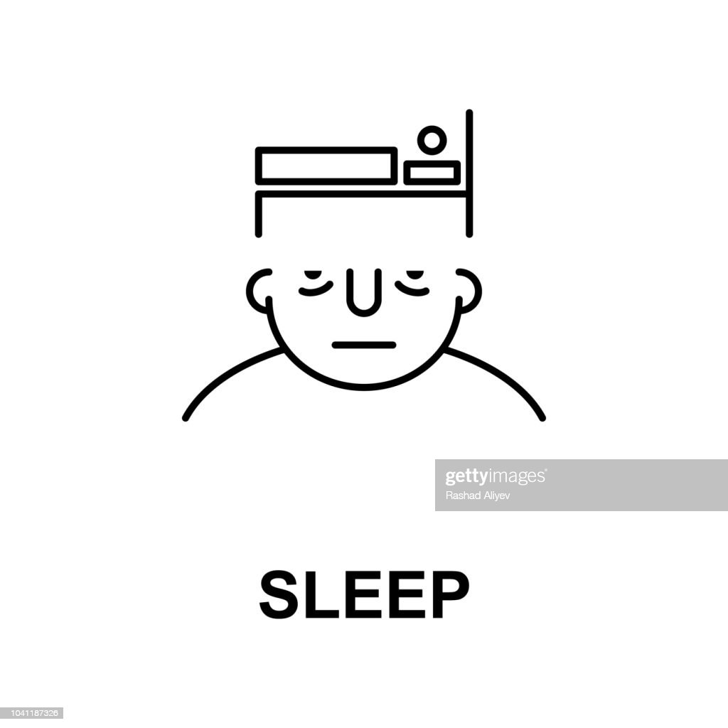 sleep on mind icon. Element of human mind icon for mobile concept and web apps. Thin line sleep on mind icon can be used for web and mobile