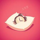 Sleeping alarm clock.