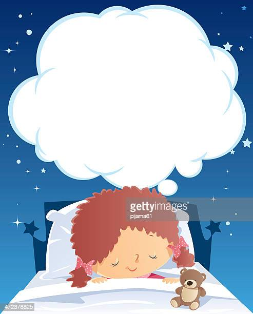 sleeping and dreaming - sleeping stock illustrations
