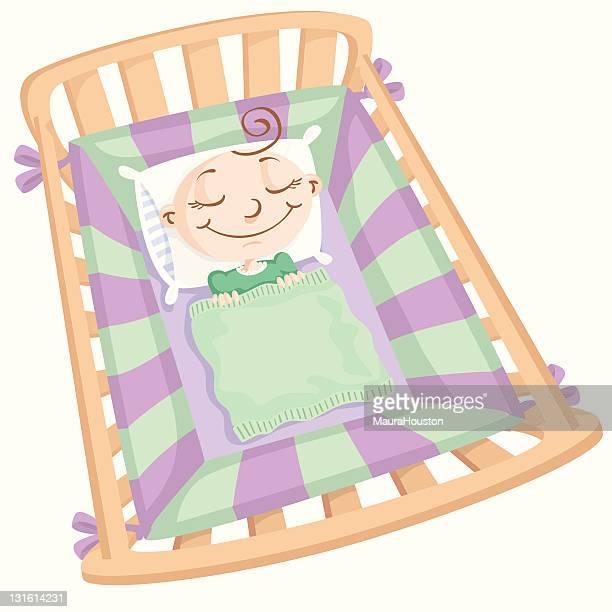ilustraciones, imágenes clip art, dibujos animados e iconos de stock de bebé dormir - baby blanket