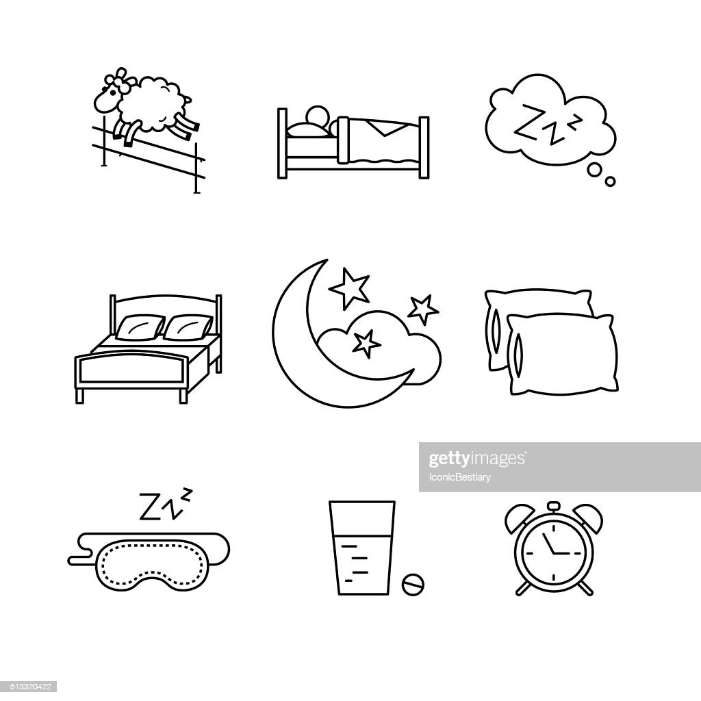 Sleeping, bedtime rest and bed