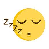 Sleeping emoticon. Vector of a cute smiley emoji icon