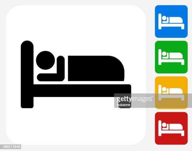 sleeping icon flat graphic design - sleeping stock illustrations
