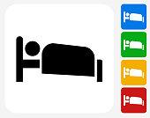 Sleeping Icon Flat Graphic Design