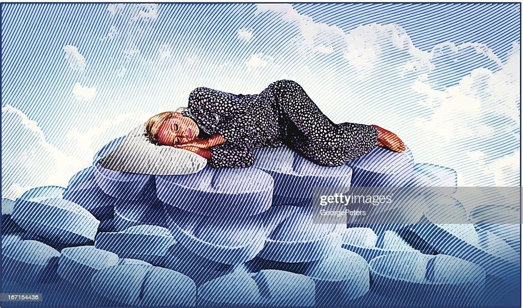 Sleeping In : Vector Art