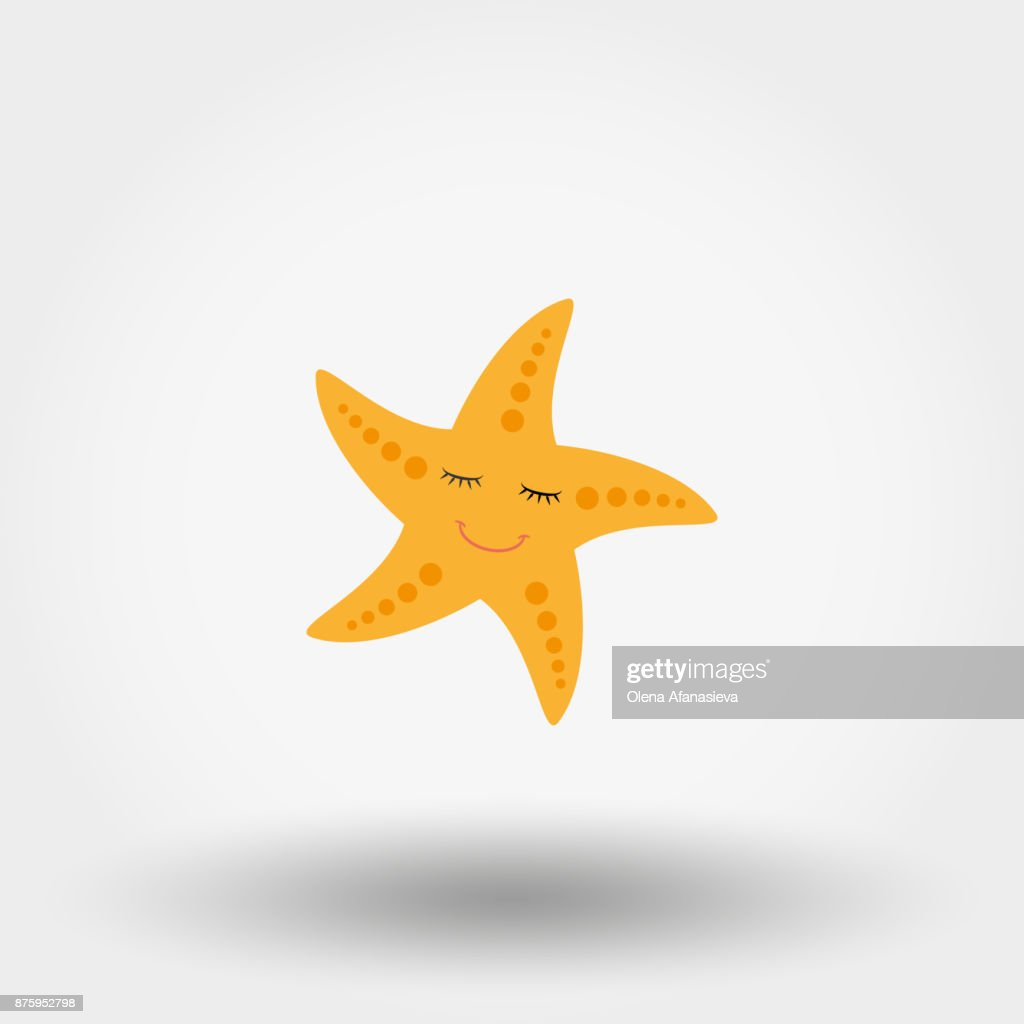 Sleeping smiling starfish.
