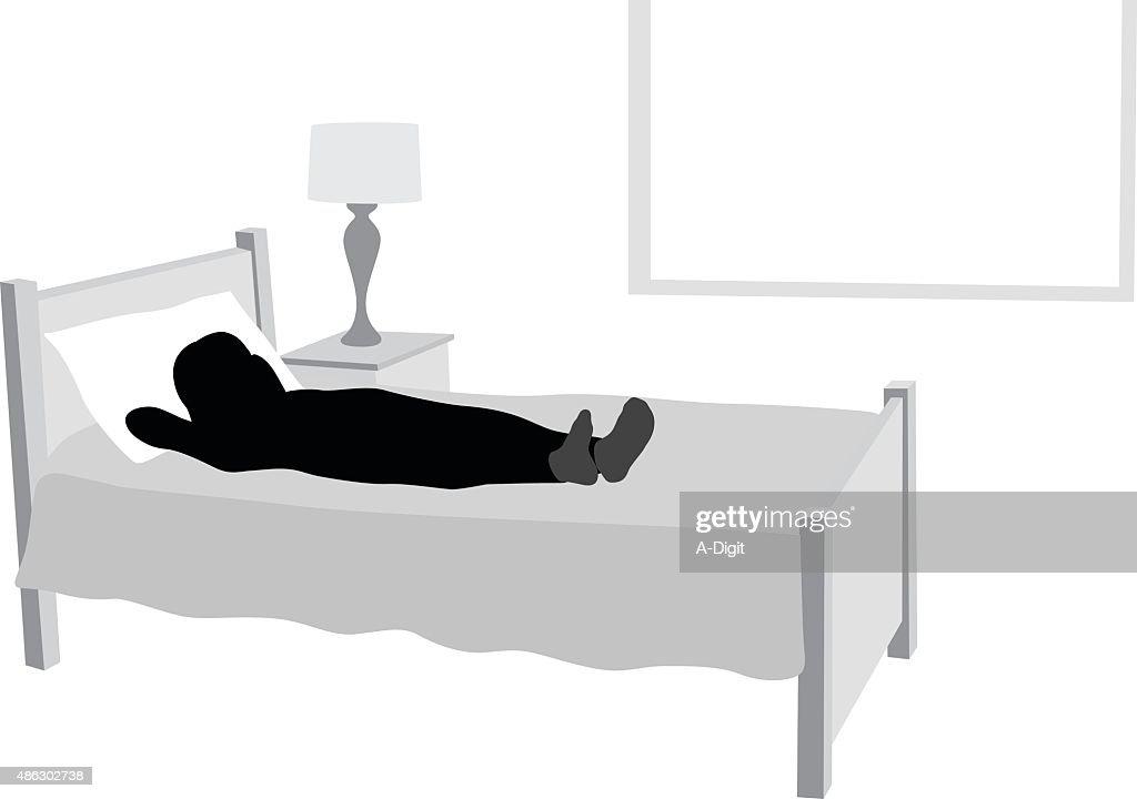 Sleepless Girl Lying In Her Bed