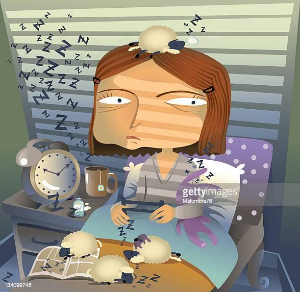 ilustrações de stock, clip art, desenhos animados e ícones de menina em claro - ansiedade