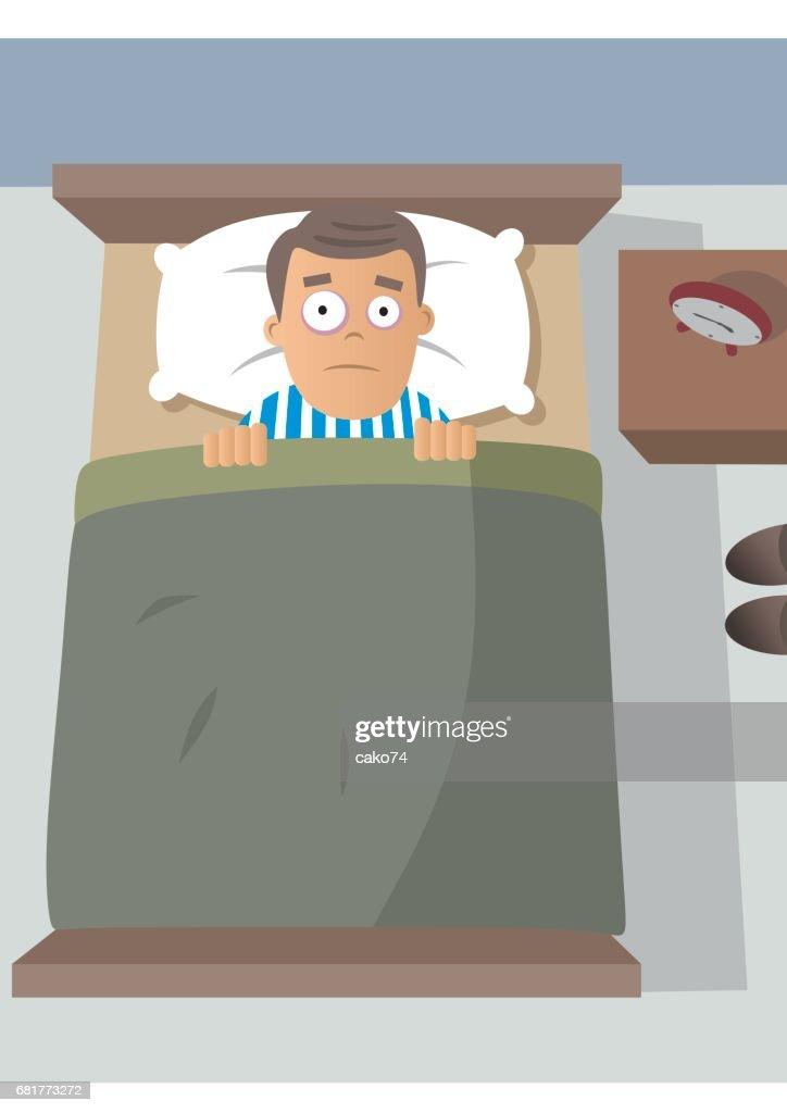 sleepless men illustration : stock illustration