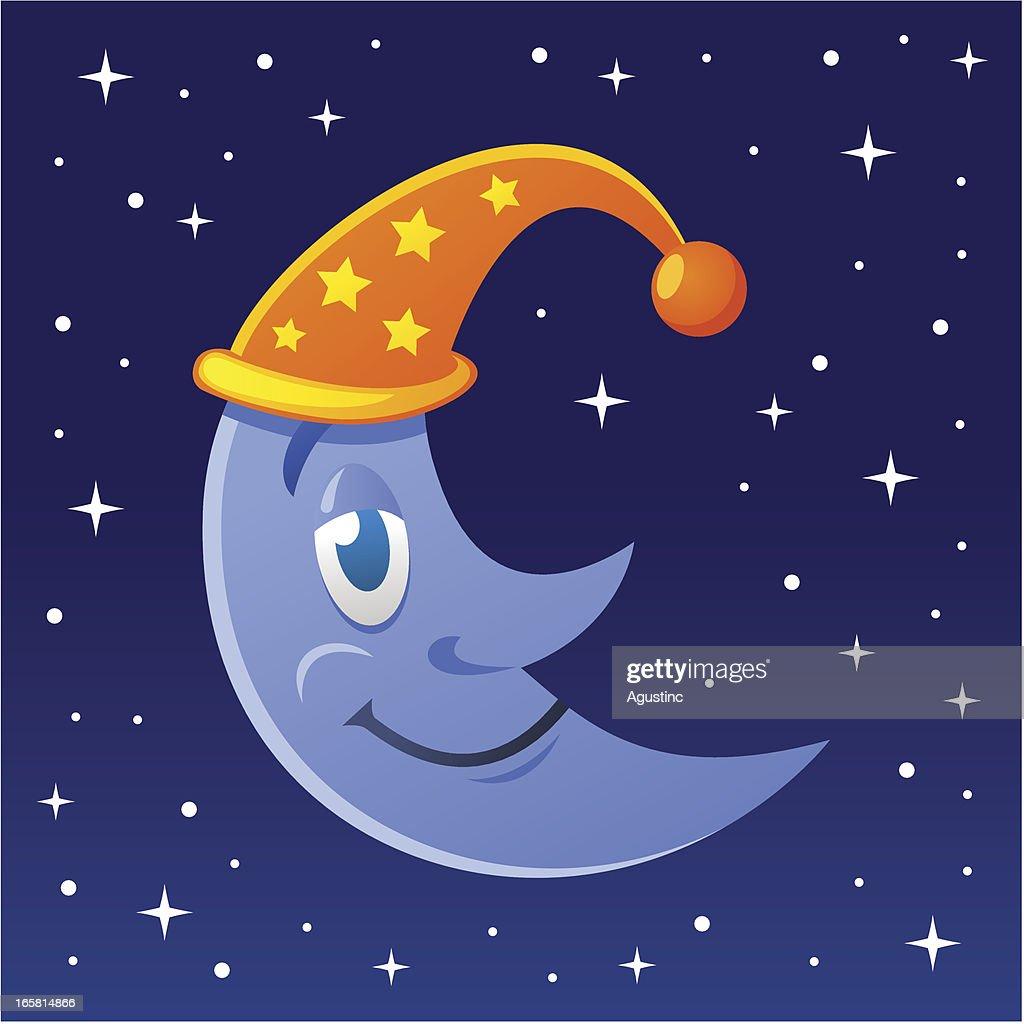 Sleepy Moon : stock illustration