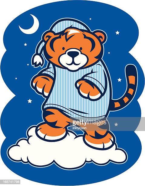 Sleepy Tiger in Pajamas