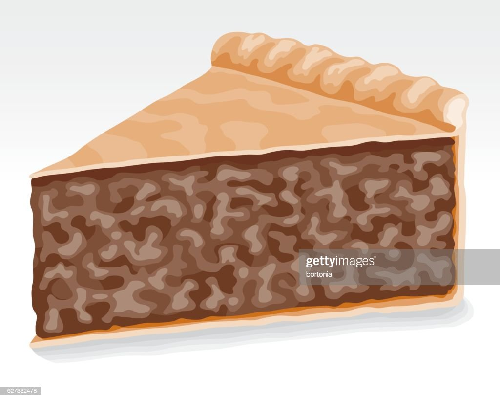 Slice of meat pie : stock illustration