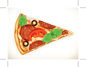 Slice of pizza illustration