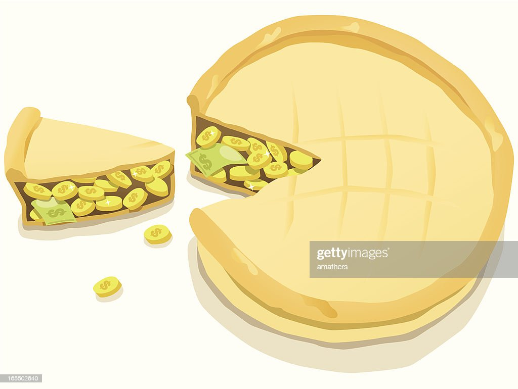 Slice of the Profit Pie : Stock Illustration