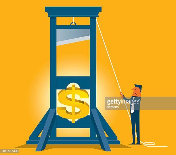 slice the dollar - spending money stock illustrations, clip art, cartoons, & icons
