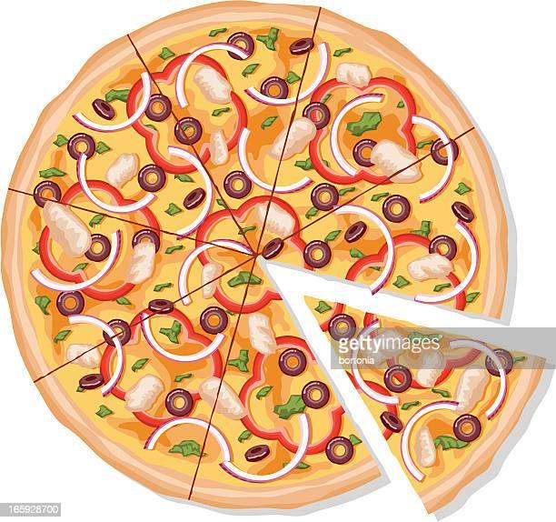 Rodajas de pollo a la barbacoa Pizza