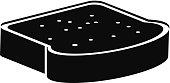 Sliced bread in black color