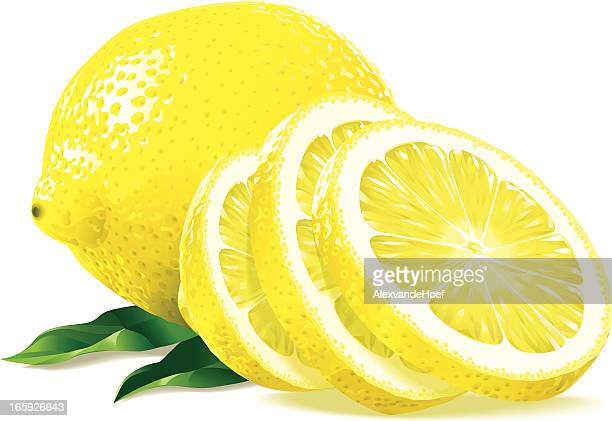 ilustrações, clipart, desenhos animados e ícones de fatias de limão - limão amarelo