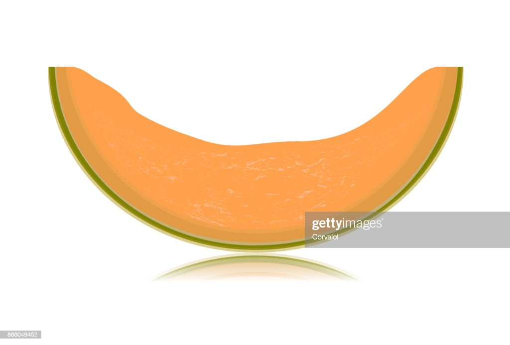 Sliced melon isolated on white background