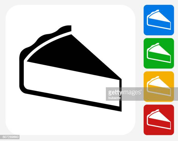 sliced pie icon flat graphic design - meat pie stock illustrations, clip art, cartoons, & icons