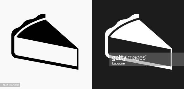 Sliced Pie Icon on Black and White Vector Backgrounds