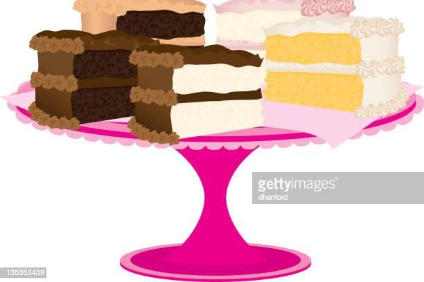 スライスのケーキ