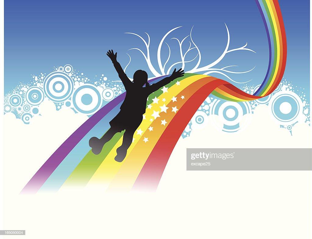 Slide on rainbow