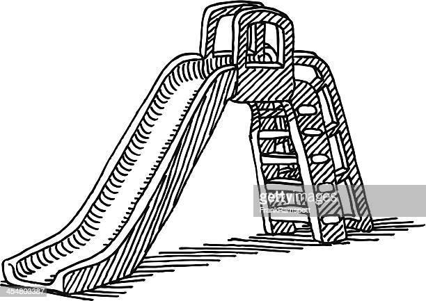 ilustrações, clipart, desenhos animados e ícones de slide playground desenho - clip art
