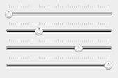 Slider control panel. White settings bars